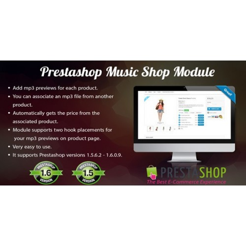 Prestashop Music Shop Module Sample
