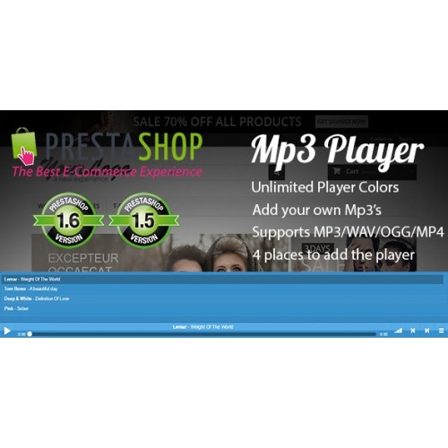 Prestashop Mp3 Player Sample